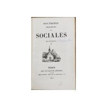Doctrines religieuses et sociales par L'Abbe Constant - Paris, 1841