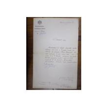 Document Ministerul Afacerilor Straine semnat Dimitrie I. Ghika, Bucuresti 1883