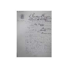Document notarial in limba franceza, 1882
