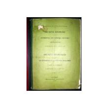 DOCUMENTE DIPLOMATICE - EVENIMENTELE DIN PENINSULA BALCANICA - ACTIUNEA ROMANIEI