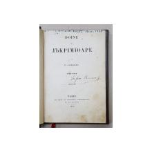 DOINE SI LACRIMIOARE de VASILE ALECSANDRI 1842 - 1852, APARUTA 1853 , EDITIA I *