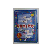 DOMINO , MATERIAL DIDACTIC PENTRU SCOLARI , 2 JOCURI INTR - UNUL SINGUR * 7 - 9 ANI