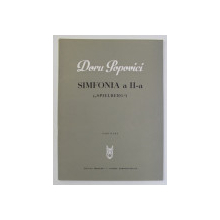 DORU POPOVICI - SIMFONIA A II -A - SPIELBERG , PARTITURA , 1974