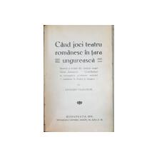 """DRAMATURGIE ROMANA de MIHAIL DRAGOMIRESCU si CAND JOCI TEATRU ROMANESC IN TARA UNGUREASCA de LEONARD PAUKEROW - BUCURESTI/BUDAPESTA, 1905,1914 """"DEDICATIE"""