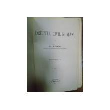 DREPT CIVIL RUMAN - C. NACU  VOL.II  -BUC. 1902