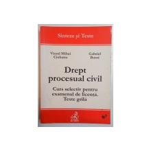DREPT PROCESUAL CIVIL , CURS SELECTIV PENTRU EXAMENUL DE LICENTA. TESTE GRILA de VIOREL MIHAI CIOBANU , GABRIEL BOROI , 2002