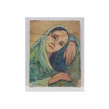 E. Apostoleanu - Portret de tanara / Peisaj cu casa