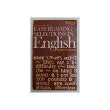 EASY READING SELECTIONS IN ENGLISH , REVISED EDITION , WITH DRILLS IN CONVERSATION BASED ON THE READING SELECTIONS by ROBERT J. DIXSON , 1971
