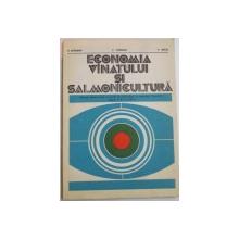 ECONOMIA VANATULUI SI SALMONICULTURA , MANUAL PENTRU LICEE CU PROFIL DE SILVICULTURA SI EXPLOATARI FORESTIERE , MESERIA SILVICULTOR , CLASELE A XI A SI A XII A de H. ALMASAN...P. DECEI , 1980