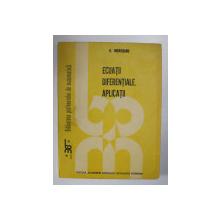 ECUATII DIFERENTIALE . APLICATII de G. MOROSANU , 1989