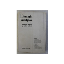EDUCATIA ADULTILOR - CERCETARE STIINTIFICA SI ACTIUNE CULTURALA , 1968