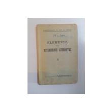 ELEMENTE DE METEOROLOGIE AERONAUTICA , 1941