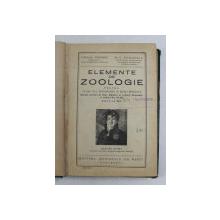 ELEMENTE DE ZOOLOGIE PENTRU CLASA VI- A  SECUNDARA de CORALIA VERNESCU si C. BOGOESCU , 1943
