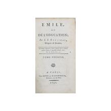 EMILE OU DE L'EDUCATION par J. J ROUSSEAU, TOME I - AMSTERDAM, 1791