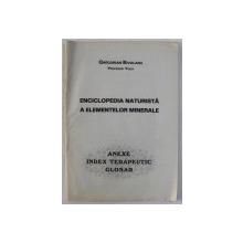 ENCICLOPEDIA NATURISTA A ELEMENTELOR MINERALE , ANEXE , INDEX TERAPEUTIC , GLOSAR de GREGORIAN BIVOLARU , 2003