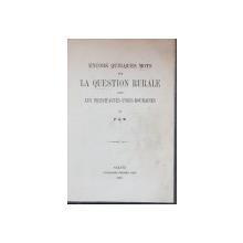ENCORE QUELQUES MOTS SUR LA QUESTION RURALE DANS LES PRINCIPAUTES-UNIES-ROUMAINES par P. A. M. - GALATI, 1864
