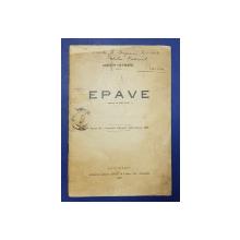 Epave de Gordon Hayward, dedicatie ptr. E Lovinescu si o scrisoare a lui E. Lovinescu - Bucuresti, 1923