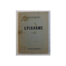 EPIGRAME de ARTUR BLASCIOC , EDITIE INTERBELICA