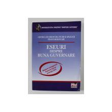 ESEURI DESPRE BUNA GUVERNARE , MASTERAT MANAGEMENT FINANCIAR - BANCAR , PROMOTIA 2010