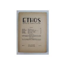 ETHOS , REVISTA DE TEORIE A CULTURII , ANUL II , NUMERELE 1 - 2 , IANUARIE - IUNIE , 1945
