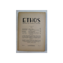 ETHOS , REVISTA DE TEORIE A CULTURII , ANUL II , NUMERELE 3 - 4 , IULIE - DECEMVRIE , 1945