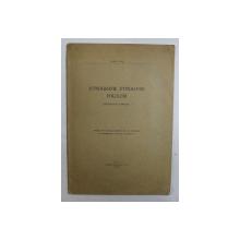ETNOGRAFIE , ETNOLOGIE , FOLCLOR - DEFINITIA SI DOEMNIUL de ROMUL VUIA , 1930