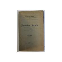 ETUDE DE PSYCHOLOGIE SEXUELLE , TOME II - L ' INVERSION SEXUELLE par HAVELOCK ELLIS , 1927