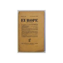EUROPE , REVUE MENSUELLE , NUMERO 59 , 15 NOVEMBRE , 1927
