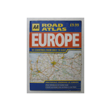 EUROPE ROAD ATLAS - 44 COUNTRIES FROM WEST TO EAST , SC. 1 / 6.500.000 , 2002