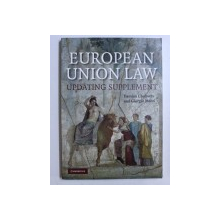 EUROPEAN UNION LAW, UPDATING SUPPLEMENT by DAMIAN CHALMERS and CIORGIO MONTI , 2009