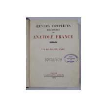 OEUVRES COMPLETES , par TOME XV , ILLUSTREES de ANATOLE FRANCE , VIE DE JEANNE D ' ARC , 1929