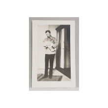 EX IMPARATUL CU FETITA LUI CHARLOTTE IN 1921 , FOTOGRAFIE TIP CARTE POSTALA , MONOCROMA, NECIRCULATA , 1921