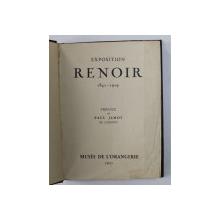 EXPOSITION RENOIR 1841 - 1919 , preface par PAUL JAMOT , 1933