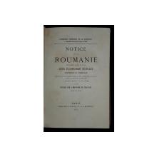 Exposition universelle  de Paris en 1867- Notice sur la Roumanie - Paris 1868