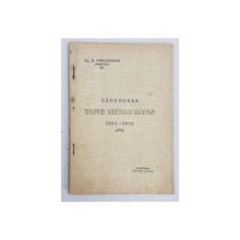 EXPUNEREA SITUATIEI JUDETULUI SUCEAVA 1911 - 1912  de AL.D. PHILOSTRAT , PREFECT , APARUTA 1911