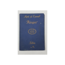 FABRICILE DE MASINI AND. RIEGER S. A., SIBIU, CATALOG NR. 8 - 1938