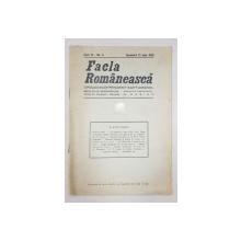 FACLA ROMANEASCA, ANUL IV, No. 5, DUMINICA 21 IULIE 1929