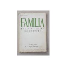 FAMILIA - REVISTA LUNARA DE CULTURA , SERIA III , ANUL II , NO. 4 , IULIE - AUGUST 1935