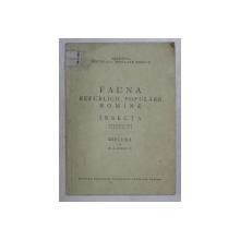 FAUNA REPUBLICII POPULARE ROMINE  , INSECTA , VOLUMUL VII , FASCICULA 2 , DIPLURA de M. A. IONESCU , 1955