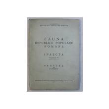 FAUNA REPUBLICII ROMANE , INSECTA , VOLUMUL VII , FASCICULA 1 , PROTURA , 1951