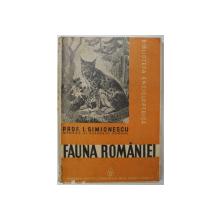 FAUNA ROMANIEI de I. SIMIONESCU , 1938