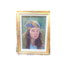 Femeie cu basma colorata , Perioada interbelica