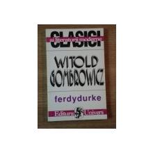 FERDYDURKE de WITOLD GOMBROWICZ  1996