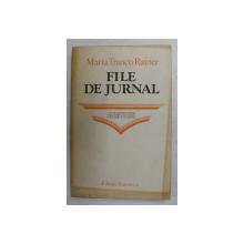 FILE DE JURNAL de MARTA TRANCU RAINER , 1982