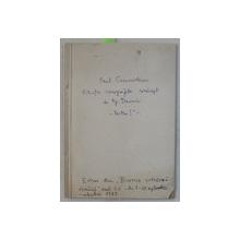 FILIATIA CRONOGRAFELOR ROMANESTI DE TIP DANOVICI  - PARTEA I a  de PAUL CERNOVODEANU , 1987 , DEDICATIE*
