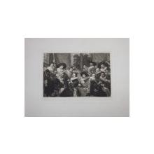 FRANZ HALS  - BANCHETUL  - GRAVURA PE METAL de WILLIAM UNGER ( 1837  - 1932 )