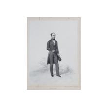 FREDERIC LEPLAY , LITOGRAFIE DUPA UN DESEN de AUGUSTE RAFFET , MONOCROMA , DATATA 1848