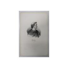 F.S. DELPECH ( 1778 - 1825 )  - CHARLES Ier DIT LE CHAUVE , LITOGRAFIE MONOCROMA , CCA. 1820