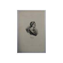 F.S. DELPECH ( 1778 - 1825 )  -  CHARLES III  DIT LE  SIMPLE  ,  LITOGRAFIE MONOCROMA , CCA. 1820