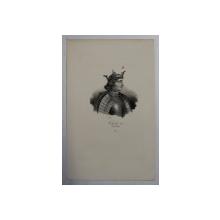 F.S. DELPECH ( 1778 - 1825 )  -  CHARLES IV DIT LE BEL    ,  LITOGRAFIE MONOCROMA , CCA. 1820